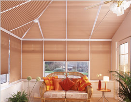 Shaped conservatory blinds